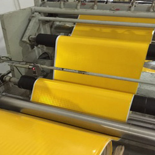 Application of induction heating roll reflective material molding production